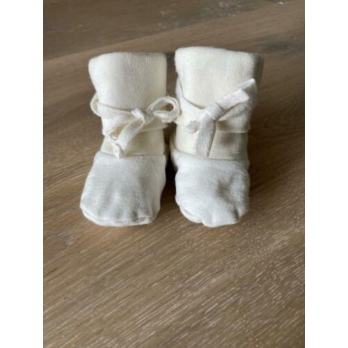 Baby Ribbed Booties - Gray Label