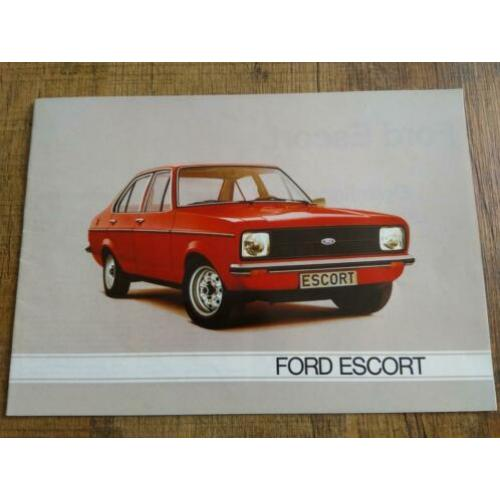 Ford Escort folder uit 1980 inclusief RS 2000